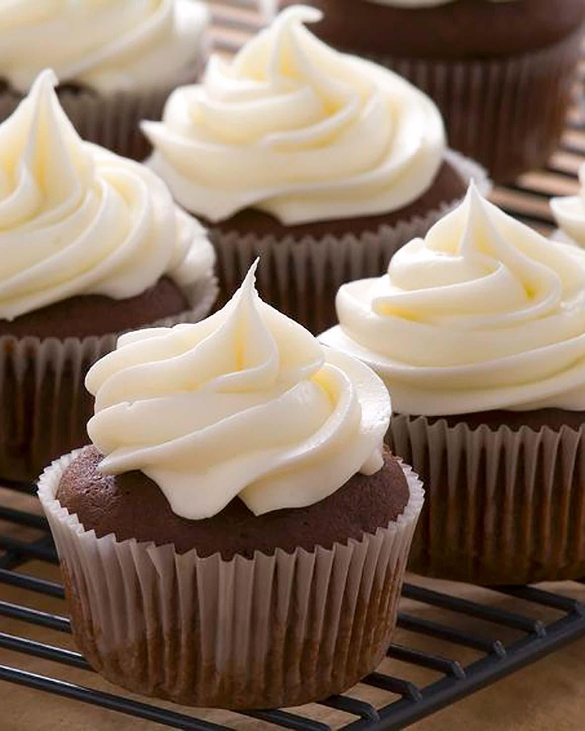 Espresso Cupcakes White Chocolate Frosting Recipe | Leite's Culinaria