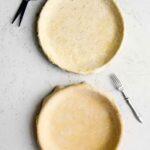 Two vinegar pie crusts in pie pan